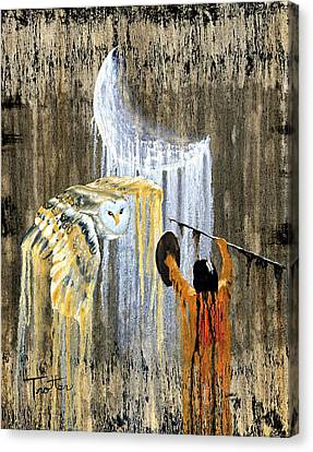 Drips Canvas Print - Spirit Of The Night by Patrick Trotter