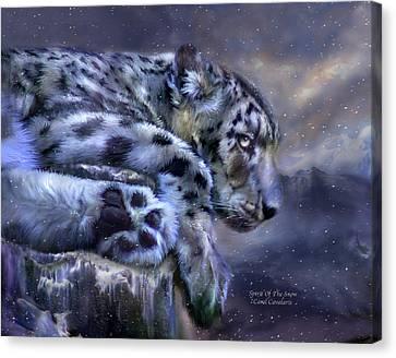 Spirit Of The Snow Canvas Print by Carol Cavalaris
