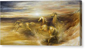 Spirit Of The Warrior Horse Canvas Print