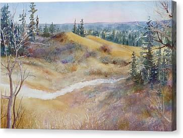 Spirit Sands Canvas Print by Ruth Kamenev