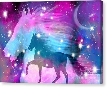 Spirit Stallion Midnight Run Canvas Print