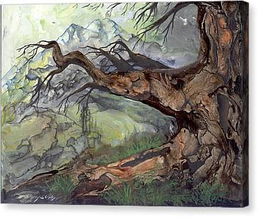 Canvas Print featuring the painting Spirit Tree by Sherry Shipley