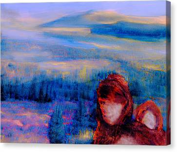 Canvas Print featuring the painting Spirits Of The Sacred Land by FeatherStone Studio Julie A Miller