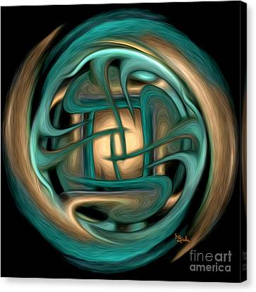 Spiritual Art - Healing Labyrinth By Rgiada Canvas Print