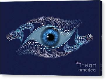 Spiritual Art - The Third Eye By Rgiada Canvas Print by Giada Rossi