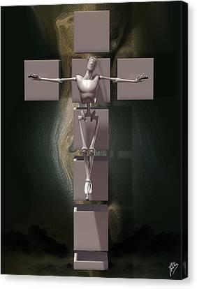 Spiritual Prototype Artificial Canvas Print by Quim Abella