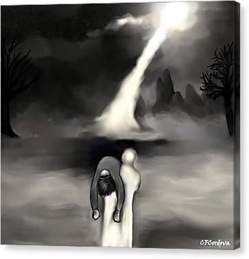 Spiritual Rescue Canvas Print by Carmen Cordova