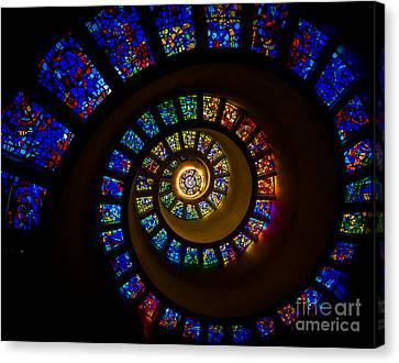 Spiritual Spiral Canvas Print by Inge Johnsson