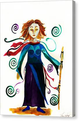 Spiritual Warrior Canvas Print by Jean Fry