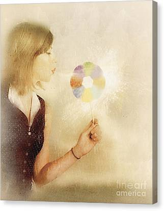 Spiritual Woman Channelling Her Soul Energy Canvas Print