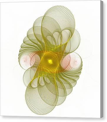 Canvas Print featuring the digital art Spiro-girations by Richard Ortolano
