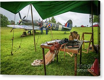 Spitfire Canvas Print by Adrian Evans