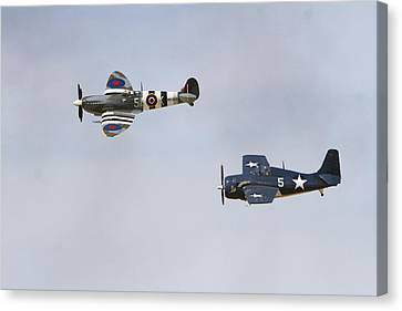 Spitfire And Wildcat Canvas Print