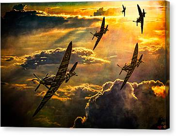 Spitfire Attack Canvas Print
