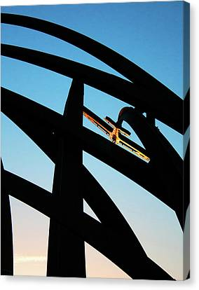 Spitfire On Fire Canvas Print