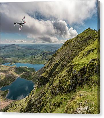 Spitfire Over Snowdon Canvas Print