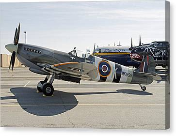 Spitfire Canvas Print by Shoal Hollingsworth