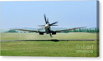 Ww2 Canvas Print - Spitfire Surprise   Close Up by Martin At Gemini Pictures