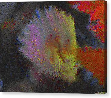 Canvas Print featuring the photograph Splash - Abstract Digital Painting by Merton Allen
