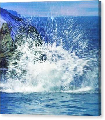 Splash Canvas Print by Anna Villarreal Garbis