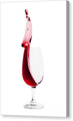 Red Wine Splash Canvas Print - Splash by Delphimages Photo Creations