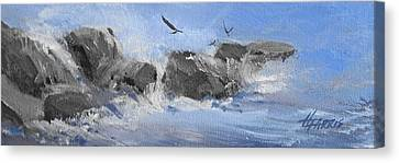 Canvas Print featuring the painting Splash by Helen Harris