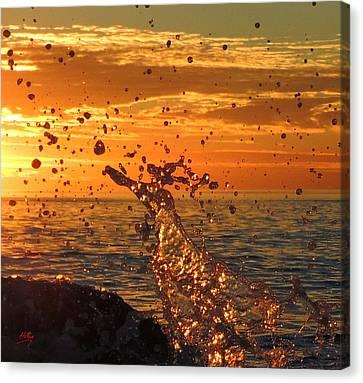 Canvas Print featuring the photograph Splash by Linda Hollis
