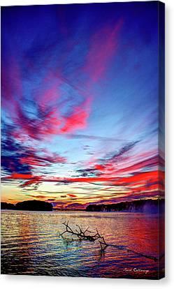 Splash Of Color Sugar Creek Sunrise Lake Oconee Georgia Canvas Print