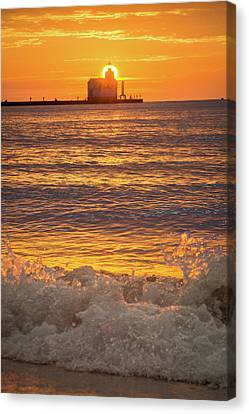 Canvas Print featuring the photograph Splash Of Light by Bill Pevlor