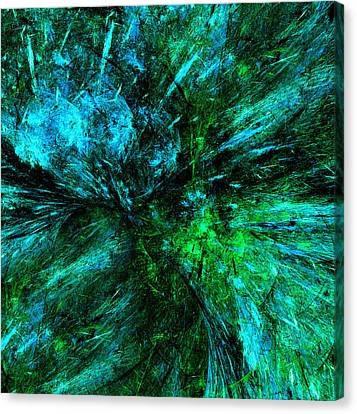 Nature Abstracts Canvas Print - Splash Of Nature Abstract Grunge by Georgiana Romanovna
