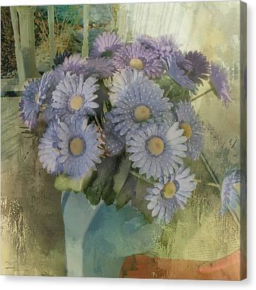 Splash Of Purple Flowers Canvas Print