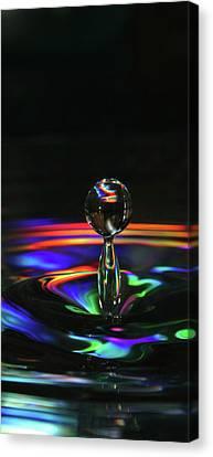 Splash Of Rainbow Canvas Print by David Paul Murray