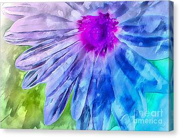 Floral Digital Art Canvas Print - Splash Of Spring by Krissy Katsimbras