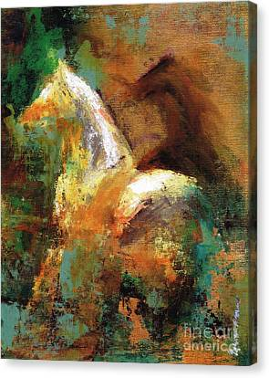 Abstract Equine Canvas Print - Splash Of White by Frances Marino