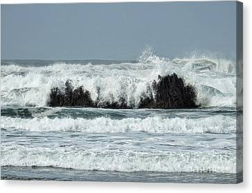Canvas Print featuring the photograph Splash by Peggy Hughes