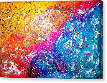 Canvas Print featuring the painting Splash by Piety Dsilva