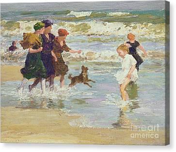 Splashing Canvas Print by Edward Henry Potthast