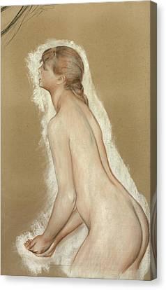 Splashing Figure Study For The Large Bathers Canvas Print