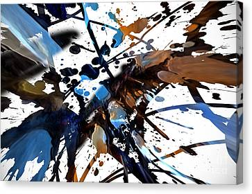 Canvas Print featuring the digital art Splatter Gig by Margie Chapman