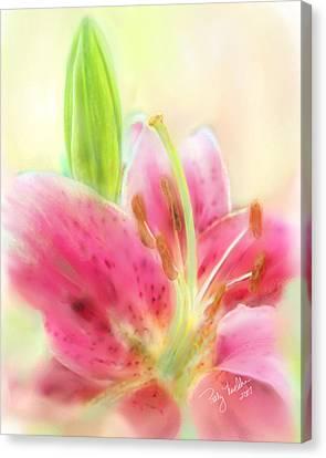 Splendid Stargazer Lily Canvas Print by Patty Muchka
