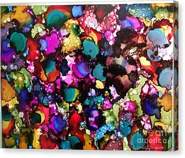 Canvas Print featuring the painting Splendor by Denise Tomasura