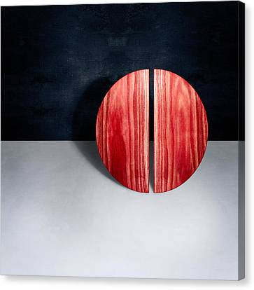 Escher Canvas Print - Split Circle Red by YoPedro
