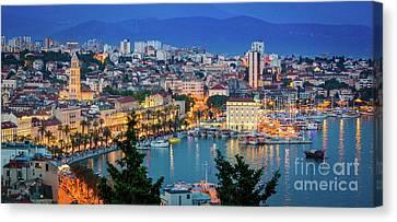 Split Evening Panorama Canvas Print