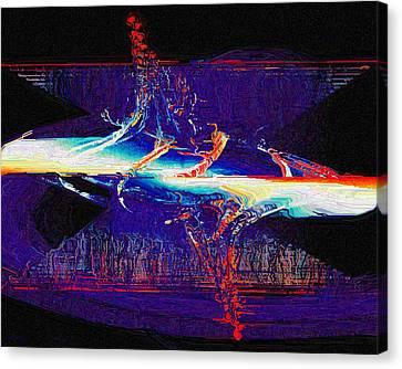 Split Infinity Canvas Print by Charmaine Zoe