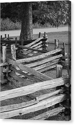 Canvas Print featuring the photograph Split Rail Fence by Eric Liller