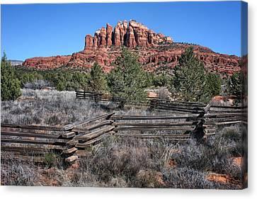Split Rail Fence Canvas Print - Split Rail Fence - Sedona - Arizona by Nikolyn McDonald
