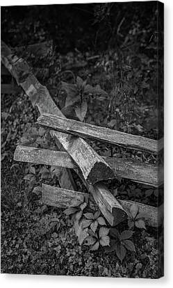 Split Rail Canvas Print by Joseph Smith