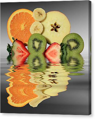 Split Reflections Canvas Print by Shane Bechler