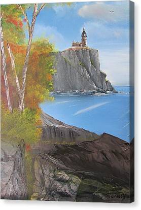Split Rock Lighthouse Minnesota Canvas Print by Thomas Janos