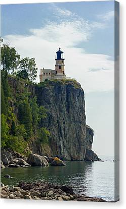 Split Rock Lightouse Canvas Print by Penny Meyers